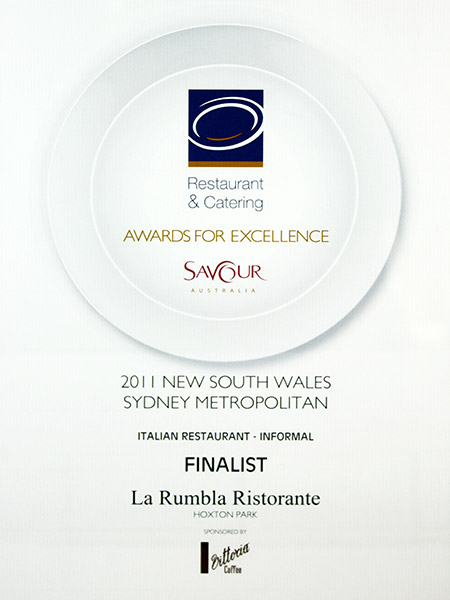 2-La-Rumbla-Finalist-in-the-Savour-Australia-2011-Restaurant-&-Catering-Awards-for-Excellence-NSW-Sydney-Metropolitan-in-the-Informal-Italian-Restaurant-Category
