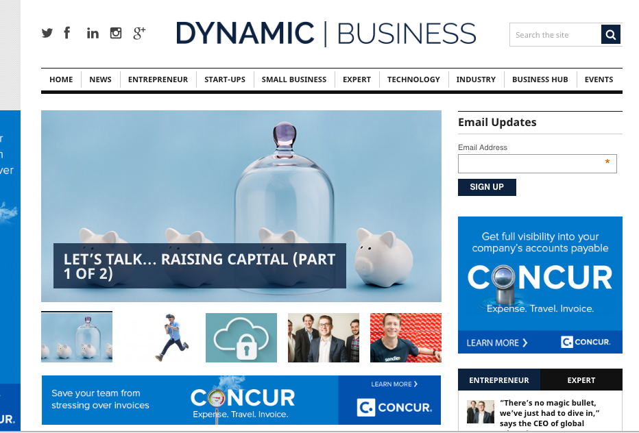 Dynamic Business Let's Talk - Raising Capital