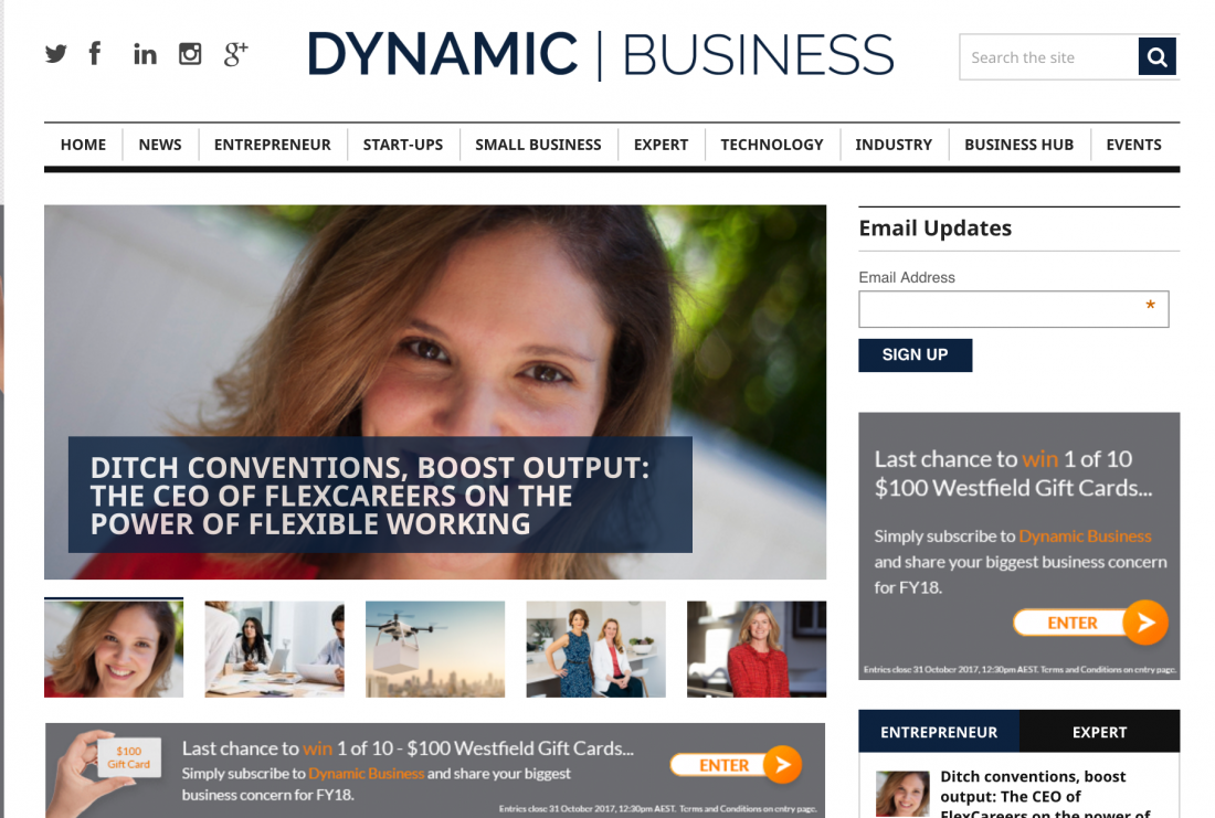 Dynamic Business Natalie Goldman FlexCareers